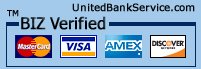 verified visa, mastercard, amex, and discover
