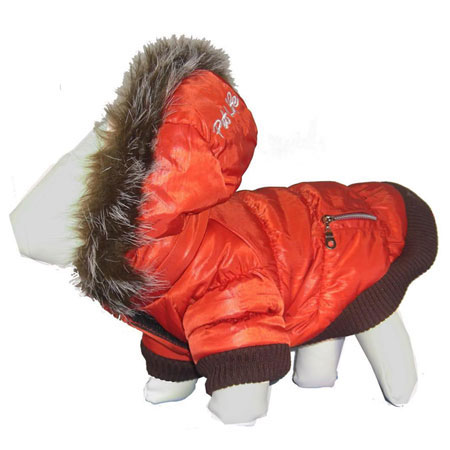 Pet Life Metallic Fashion Parka w/ Removable Fur-Lined Hood (Features 3M Thinsulate)