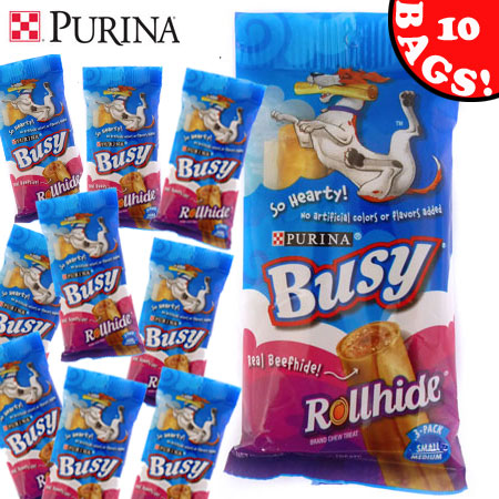 Purina Busy Rollhide Small-Medium Size - 10 Bags!