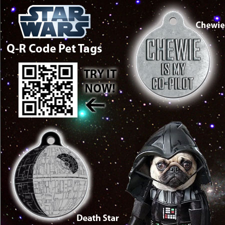 Star Wars QR Code Pet Tags - No Engraving Needed!