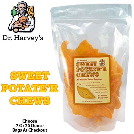 Dr. Harvey's Sweet Potate'r Chews - An All Natural Treat Dogs Love