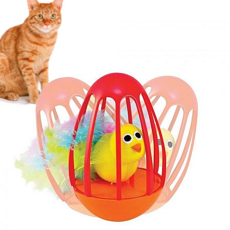 Pretty Bird Wobble Cage Cat Toy by Petstages
