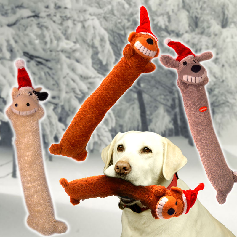 3 Pack of 13 Inch Holiday Plush Animal 'Stick' Toys - SHIPS FREE!